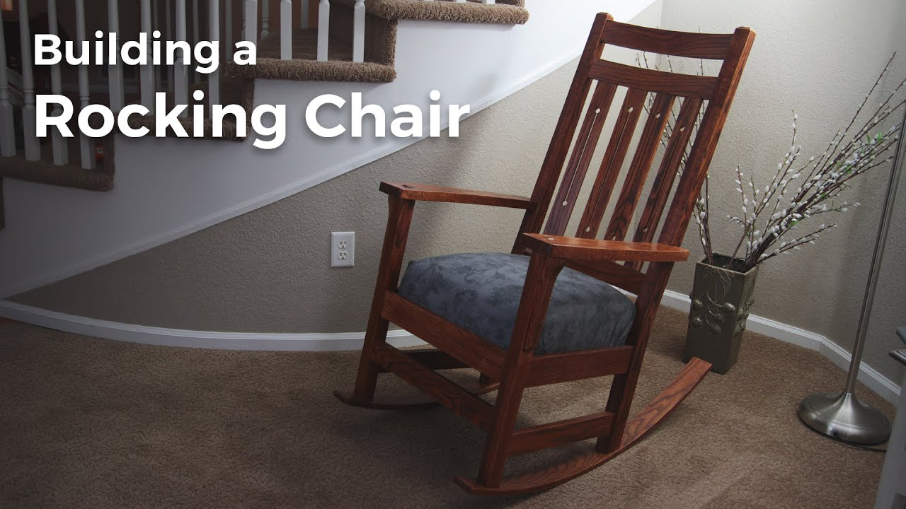building a rocking chair two seat lawn chairs build youtube