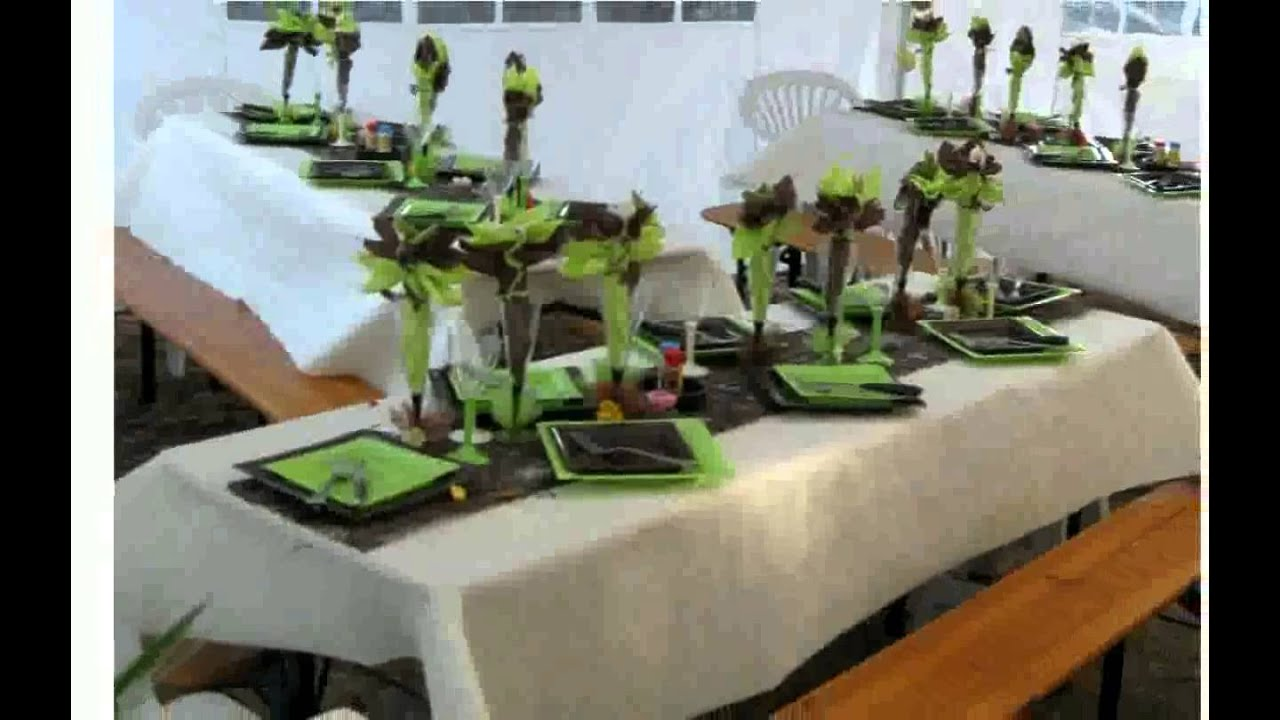 Deco table fete youtube for Idee deco table