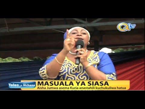 Aisha Jumwa asisitiza Kuria achukuliwe hatua za kisheria