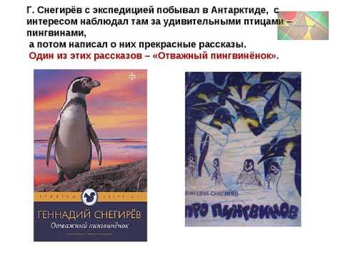 """Г.Снегирёв """"Отважный пингвинёнок"""""""