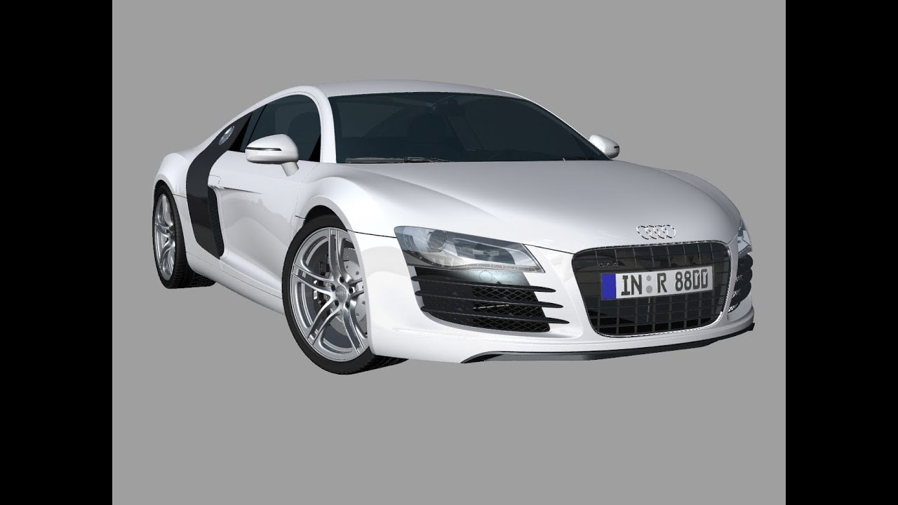 AKD D Car Animation Model Audi R YouTube - Audi car 3d