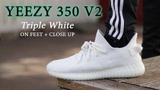 YEEZY 350 V2 CREAM (Triple White)   ON