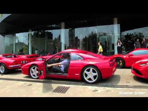 Ferrari Owners Club Indonesia (FOCI) Gathering & Acceleration Sound!