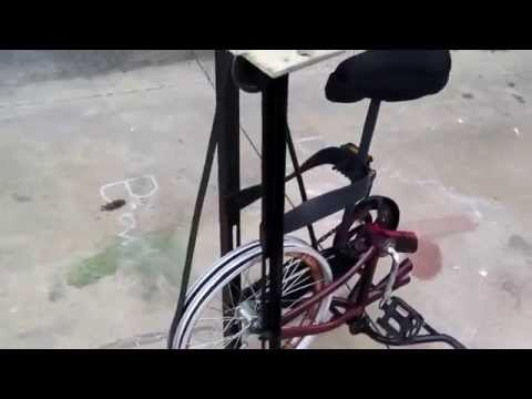 Bicycle Pedal Powered Polisher Grinder Etc Green Power