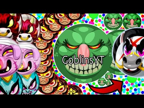 Agar.io - Goblins Crazy Popslit Tricks Double Split Wins best Moments