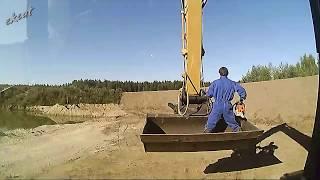 Строительство земляного вала и террасы  Building earth wall terrace