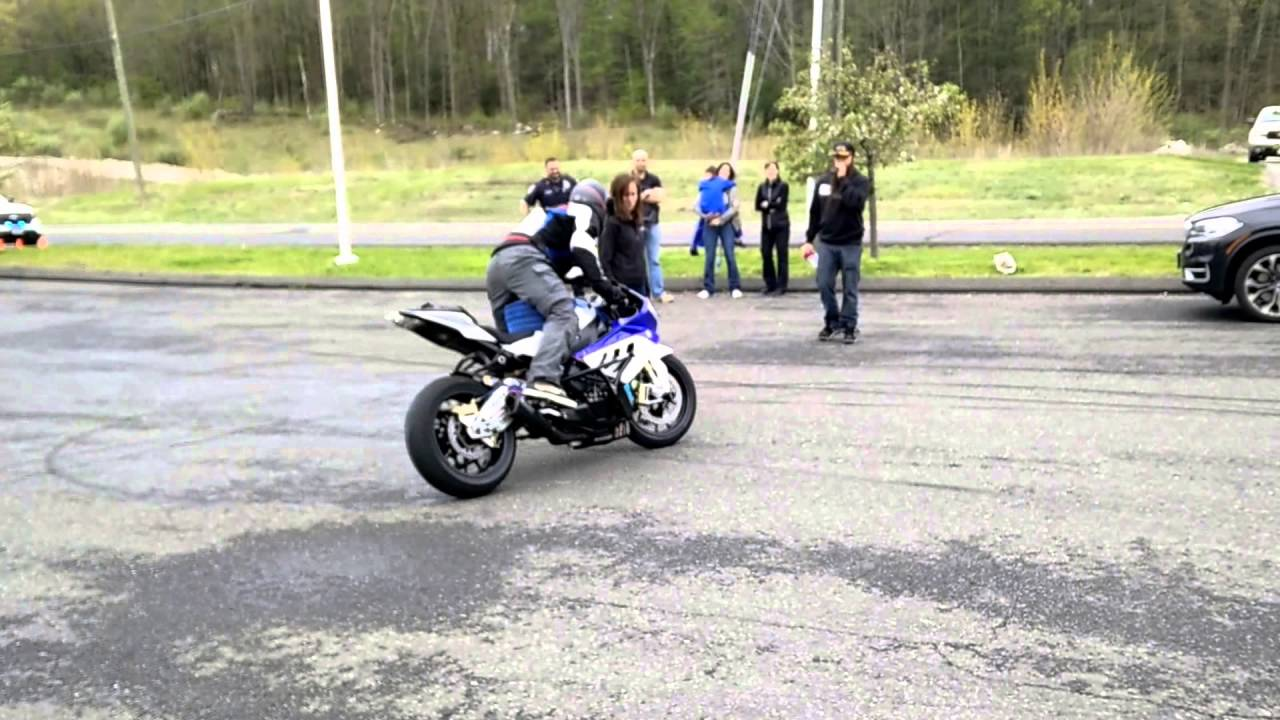 BWM S1000RR stunt demo part 4  Chris Teach McNeil  Max BMW in