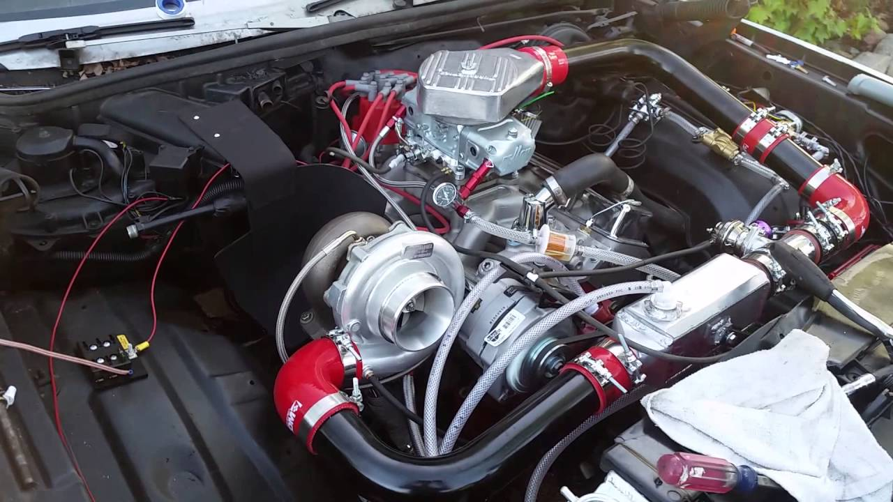 Turbo 355 Sbc First Start Up Youtube