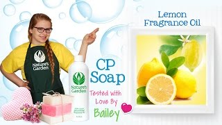Soap Testing Lemon Fragrance Oil- Natures Garden