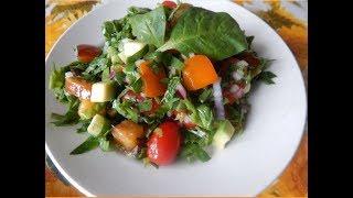 Салат с авокадо и хурмой. Спасаемся от осенней хандры, едим разноцветные салаты!!!