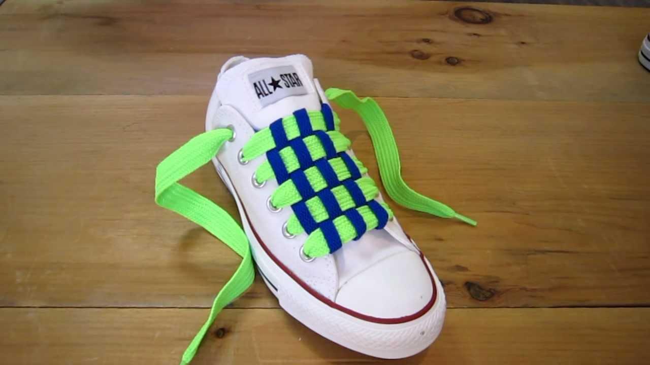 Checkboard Lacing - Gaya mengikat tali sepatu keren