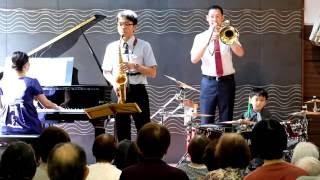 2016/08 九州初公演 福岡の老人ホームドラムライブ サックスとピアノと...