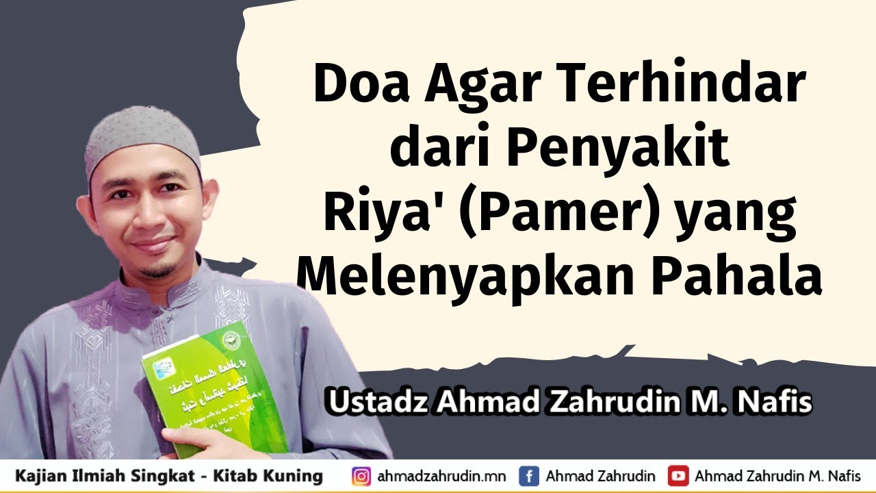 Doa Agar Terhindar dari Penyakit Riya' (Pamer) yang Melenyapkan Pahala ...