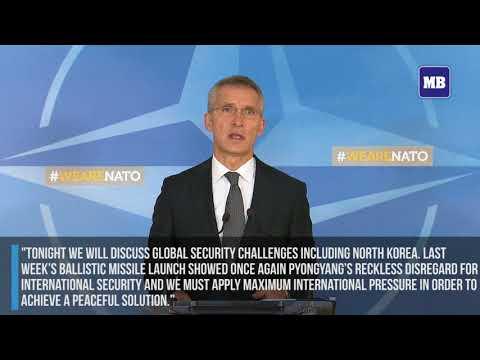 North Korea missile threat, terrorism top NATO summit agenda