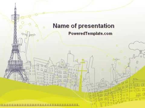 Paris illustration powerpoint template by poweredtemplate paris illustration powerpoint template by poweredtemplate toneelgroepblik Images