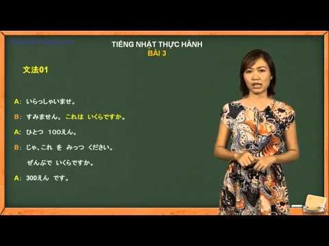 Học tiếng Nhật giao tiếp cơ bản - Giao tiếp trong cửa hàng