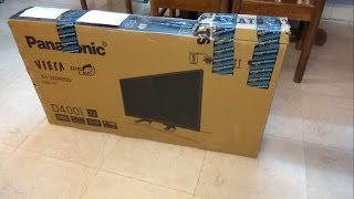 Panasonic TH-32D400D 32 inches HD Ready LED TV - UNBOXING Indian Model