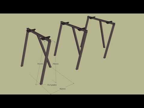 DIY Slim and basic steel table legs