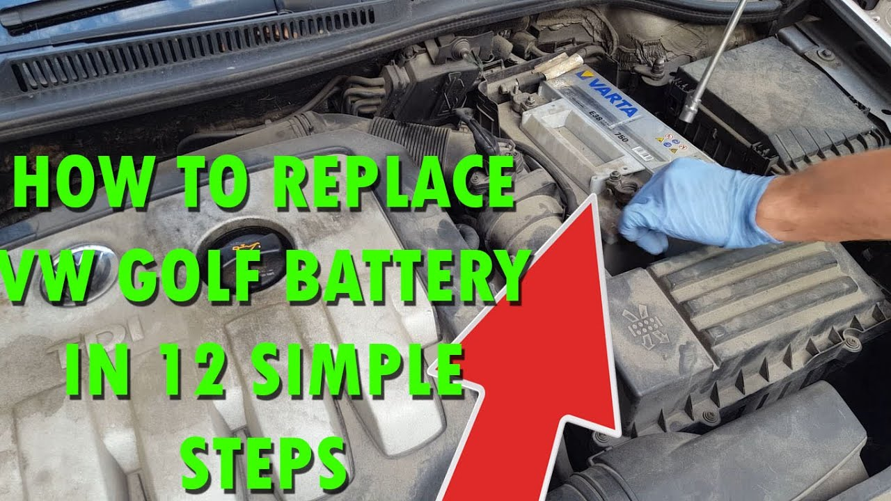 how to remove replace the battery vw golf mk5 in 12. Black Bedroom Furniture Sets. Home Design Ideas