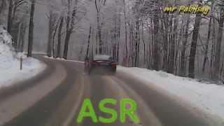 Pokaz działania ASR w praktyce samochód - Mercedes E220 W212 sedan ...