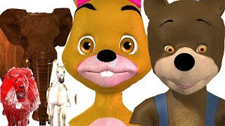 3D Animals for Toddlers | Funny Bunny Release Barn Animals from Color Cages