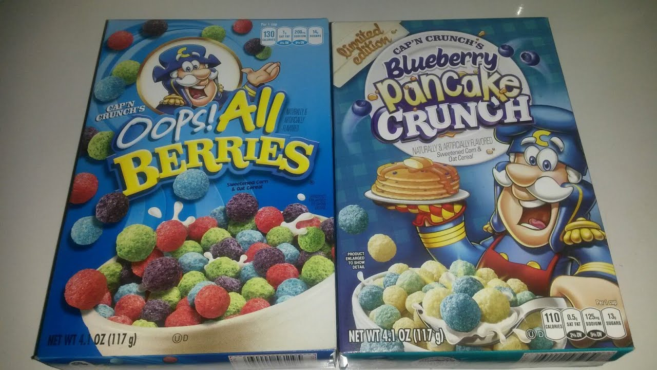 Cap N Crunch S Limited Edition Blueberry Pancakes Oops All Berries Cereal Tasting Youtube All berries cereal with flat crunch berries.24. youtube