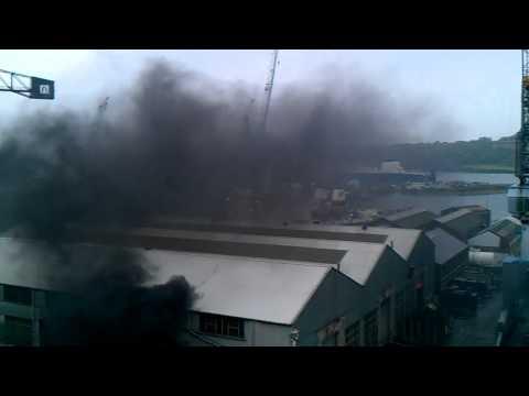 Falmouth Docks Fire