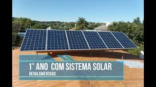 1° ANO COM SISTEMA SOLAR ON GRID REGULAMENTADO