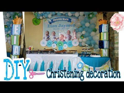 DIY✂ Christening Decoration🌸