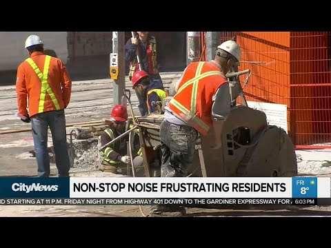 Non-stop noise frustrating downtown residents