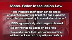 Highway Bill Extension and Canton, MA solar install - Union Construction News