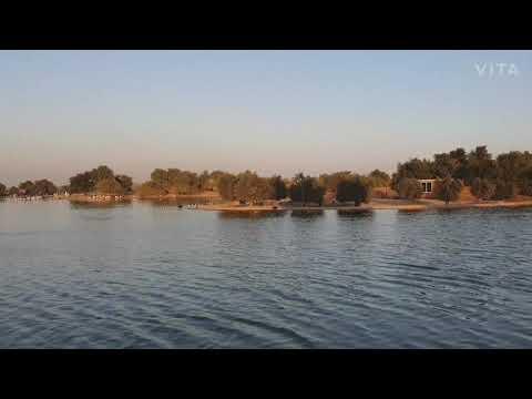 Evening view of Flamingo lake Al Qudra Dubai UAE #flamingolake #alqudra #dubai #mydubbai