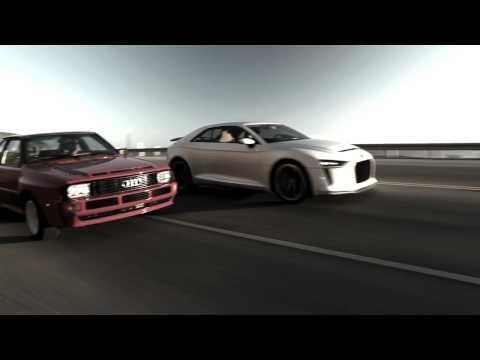 """Audi Sport Quattro Concept commercial """"Legend"""""""