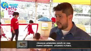 Inglês com futebol na escola Alegria da Vila