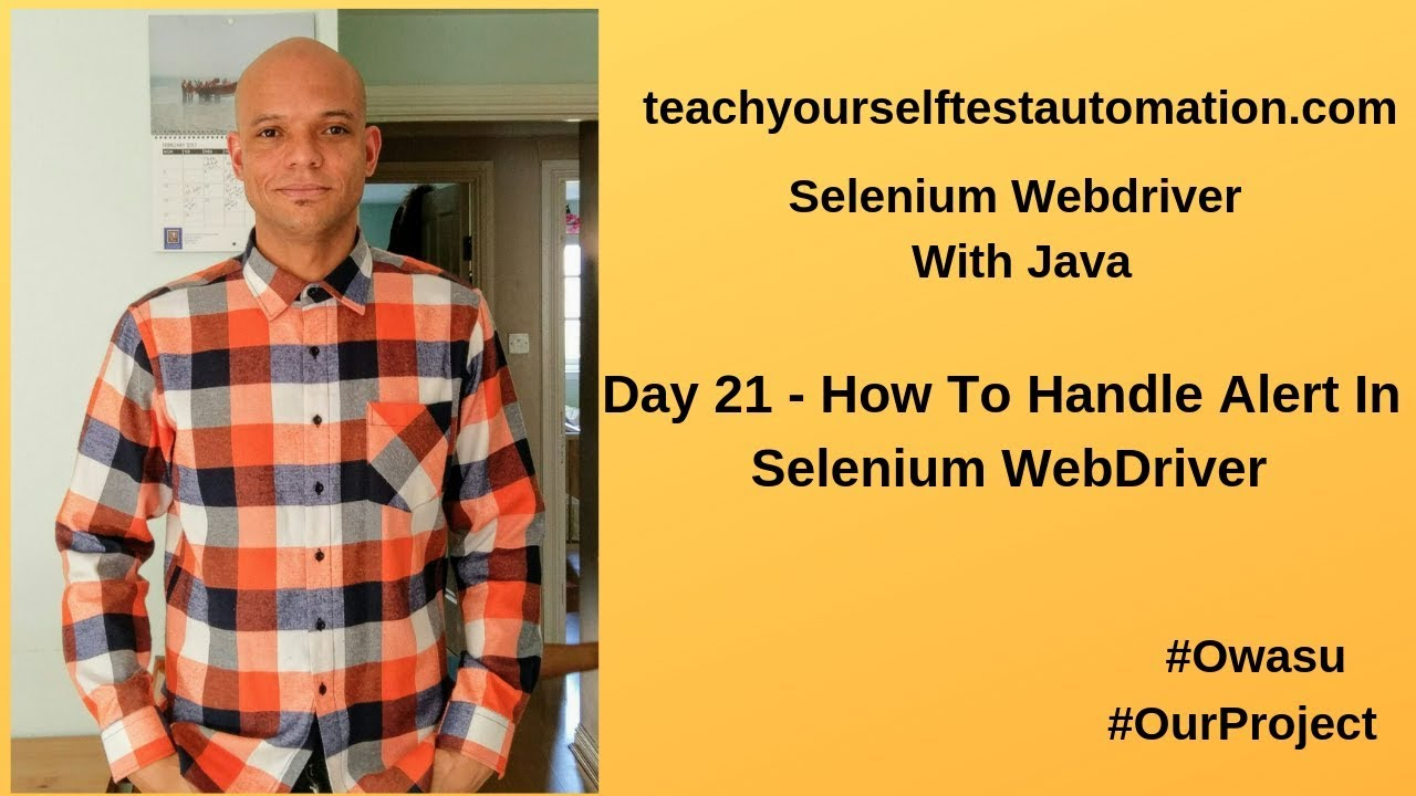 Day 21 - How To Handle Alert In Selenium WebDriver - Teach Yourself