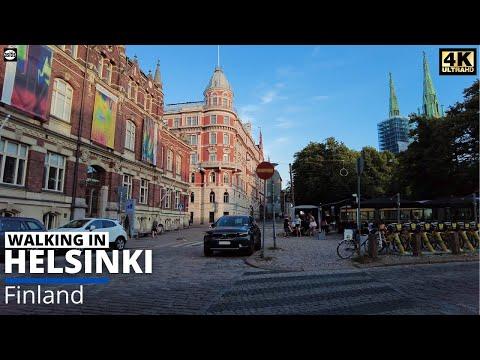 Walking in Helsinki Finland - Summer Evening Walk in Kaartinkaupunki (7 July 2021)