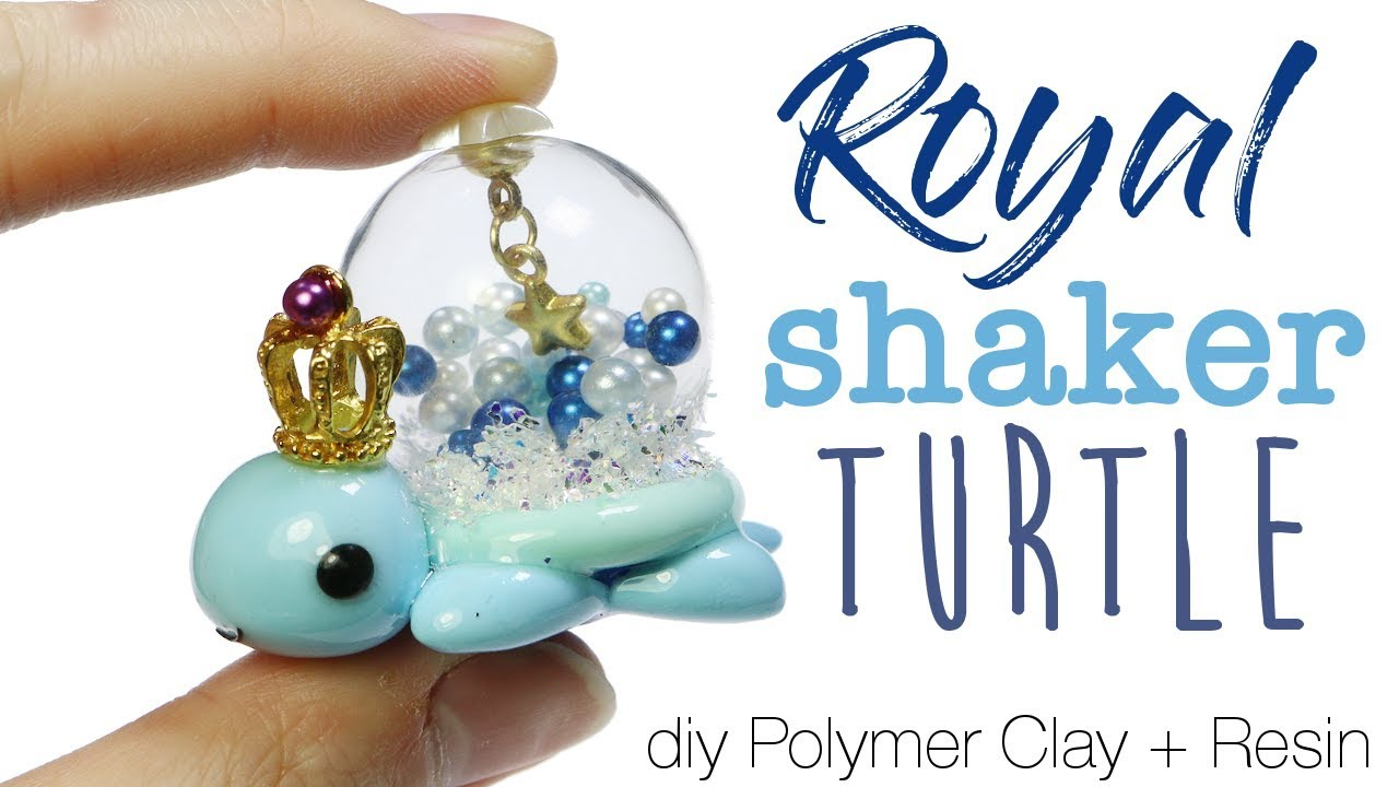How To Diy Kawaii Royal Shaker Turtle Polymer Clay Resin Tutorial