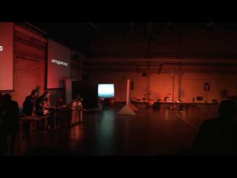 Digital media theatre performance in Arts @ Artaud