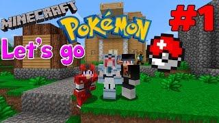 Minecraft Let's go Pokemon # 1 น้องหมูเทพริกกับการสร้างบ้าน
