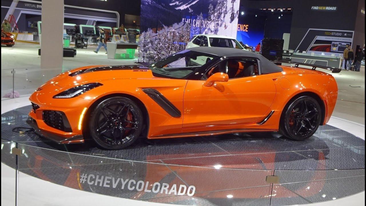 2019 Chevrolet Corvette ZR1 Convertible in Orange & Engine ...