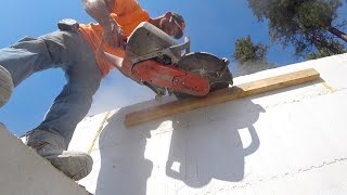 CONCRETE FAIRY SAVES OUR BACON! (Cutting ICF Wall)
