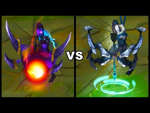 Dark Star Varus vs Arctic Ops Varus Best Varus Skins Comparison (League of Legends)