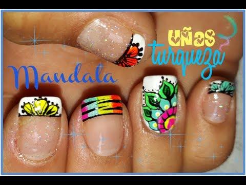 Decoracion De Una Mandala Mandala Nail Art Nail S Decoration Video