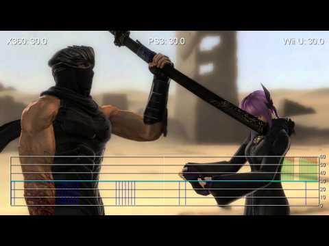 Ninja Gaiden 3 Wii U Ps3 Xbox 360 Like For Like Frame Rate Tests