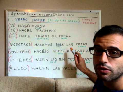 how to use hacer in a sentence