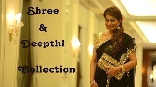 Shreedevi Chowdary In Stunning Black & Gold Sequence Saree - By Shree & Deepthi