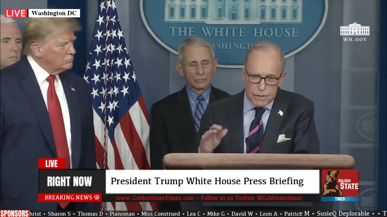 Larry Kudlow HITS it out of the Park at Briefing from the White House