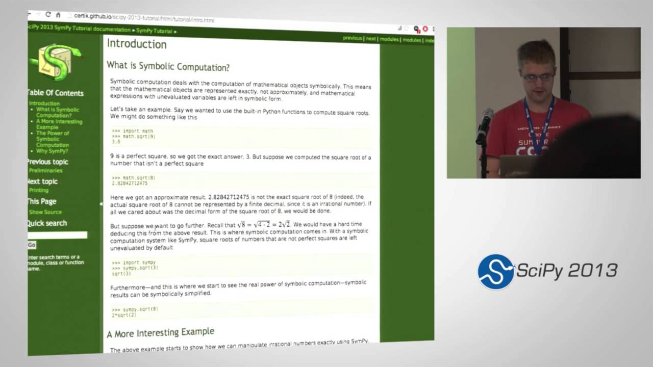 Symbolic computing with sympy scipy2013 tutorial part 1 of 6 symbolic computing with sympy scipy2013 tutorial part 1 of 6 buycottarizona