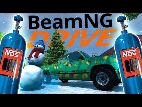 BeamNG - All I Want For Christmas Is NOS! - Christmas Update Frosty Slaying - BeamNG Drive Gameplay