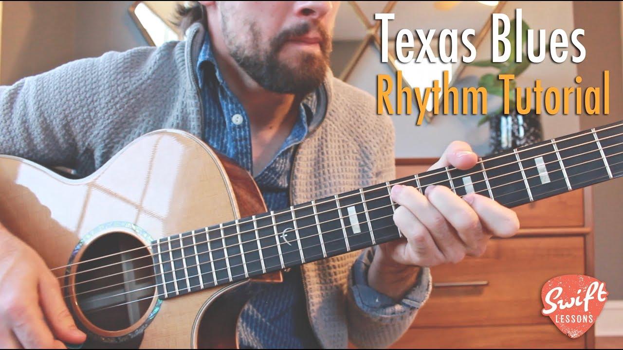 Texas Blues Rhythm Guitar Lesson - 12 Bar & Strumming ...